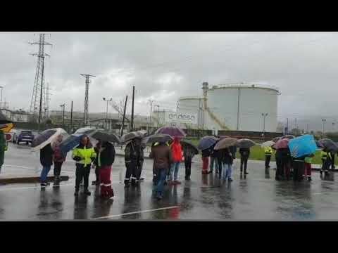 Los trabajadores de las auxiliares de Endesa vuelven a concentrarse
