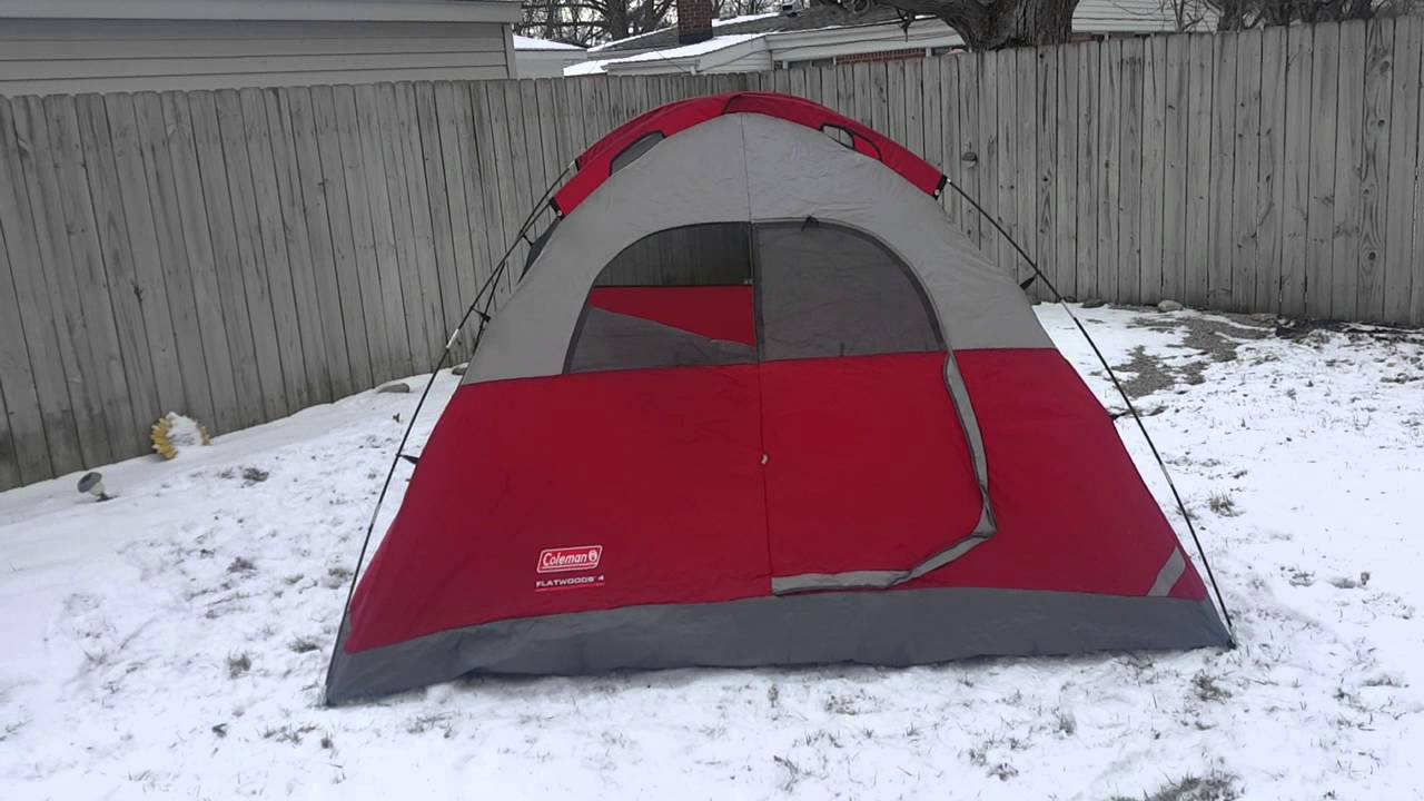 Coleman Flatwoods 4 person tent & Coleman Flatwoods 4 person tent - YouTube