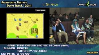 Fire Emblem: The Sacred Stones :: SPEED RUN Live (2:27:13) by Bertin #AGDQ 2014