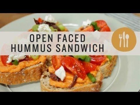 Superfoods - Open Faced Hummus Sandwich