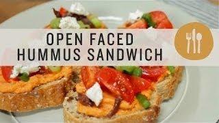 Open Faced Hummus Sandwich