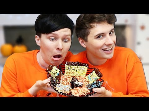 Halloween Baking - Creepy Crispy Cakes CONJOINED CHALLENGE!