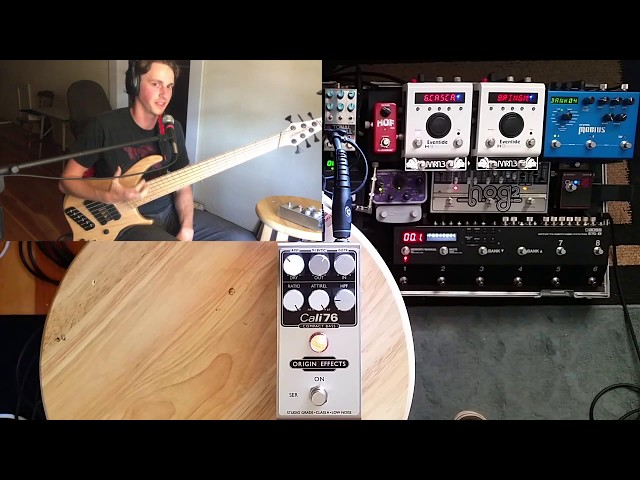 Origin Effects Cali76 Compact Bass Compressor Demo (Review featuring Dingwall ABZ 6 string)