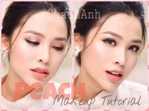 Peach Makeup Tutorial - Trang điểm tông cam đào
