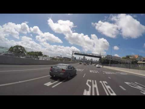Drive to AUT City Campus (from Glenfield, North shore)