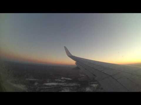 Посадка самолёта NordStar Москва-Красноярск в Емельяново
