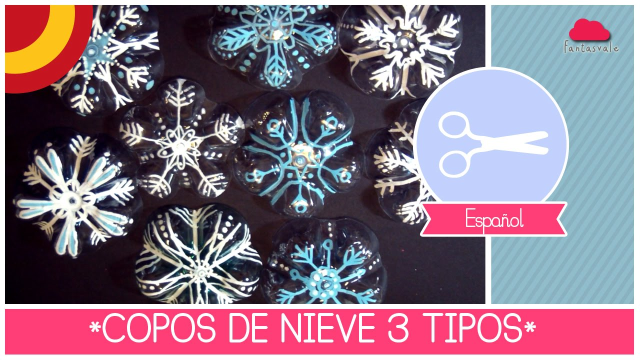 Manualidad de navidad decoraciones copos de nieve de 3 for Youtube decorazioni natalizie