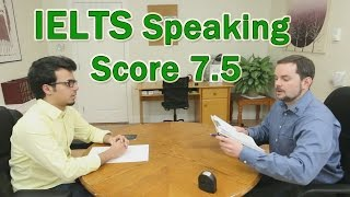 IELTS Speaking Example Arabic Learner Score 7.5 thumbnail
