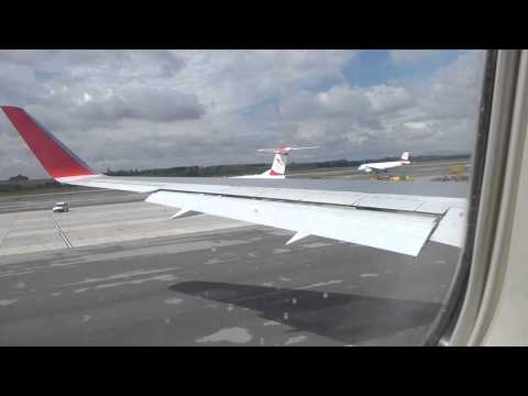 Austrian 767 startup and taxi LOWW Travel Video