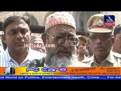 "250 year old ""Taqat Stone bed"" installed in Mecca Masjid | Mecca Masjid Hyderabad"
