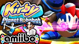 Kirby Planet Robobot PART 12 - 3DS Gameplay Walkthrough - VS Mecha Knight BOSS World 4 Doctor amiibo