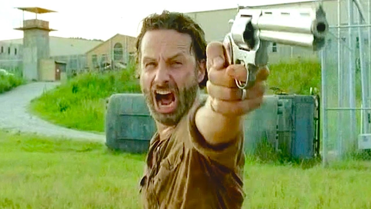 The Walking Dead Everytime Rick Has Said Thangs Youtube