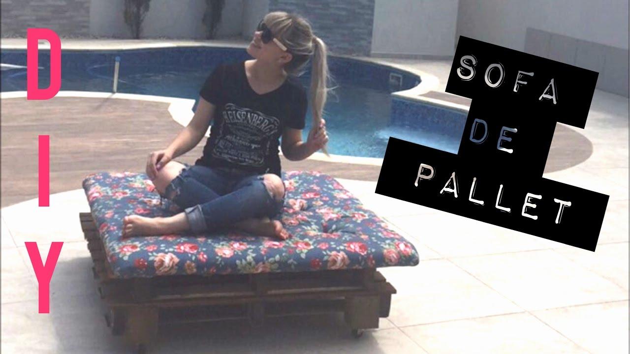 DIY :: Sofá de Pallet (sofá/espreguiçadeira) Fácil e ...