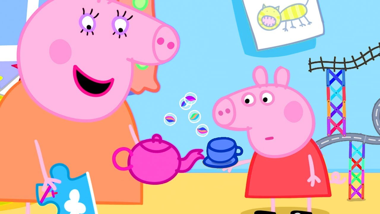 Peppa Pig Official Channel   Let's Play Marble Run with Peppa Pig