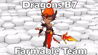summoners war dragons b7 farmable team