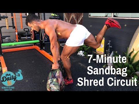 7-Minute Sandbag Shred Circuit | BJ Gaddour Men's Health Fat Loss Workout