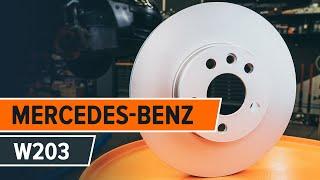 Hogyan cseréljünk Fékbetét készlet MERCEDES-BENZ C-CLASS (W203) - online ingyenes videó