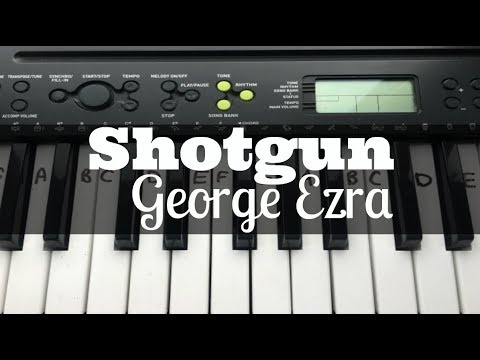 Shotgun - George Ezra | Easy Keyboard Tutorial With Notes