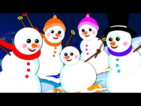 Five In The Bed  Five Little Snowman  Christmas Songs  Xmas s  Nursery Rhymes Oh My Genius