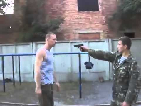 Self-defense: Point-blank Shot Dodge + Submission