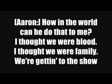 Aaron Carter Oh Aaron Lyrics on Screen