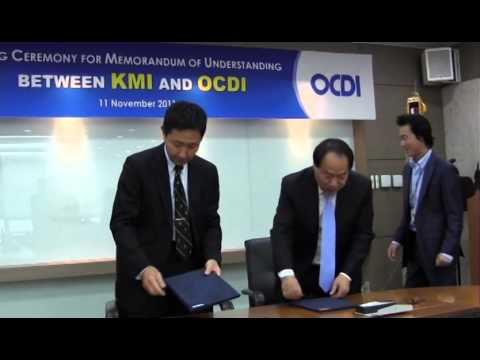 Launch of research cooperation between OCDI and Korea Maritime Institute