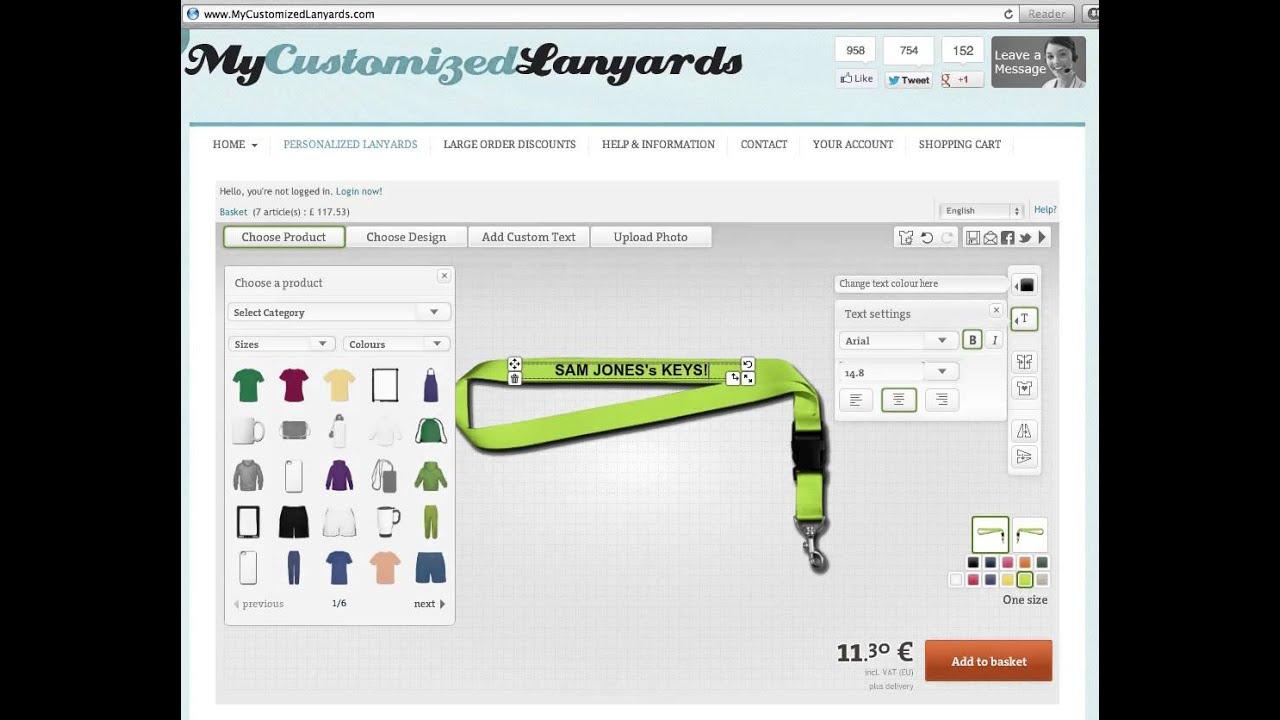 Custom lanyards make your own custom lanyards online for Blueprint maker online