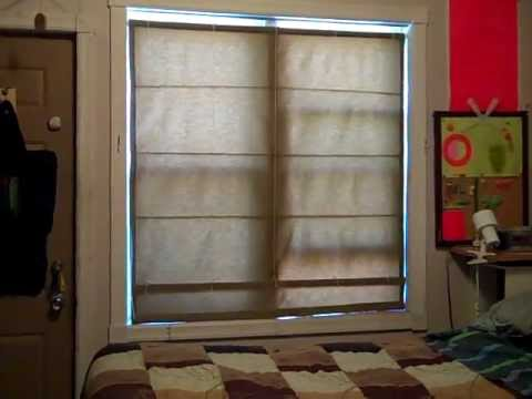 Homemade Double Hung Roman Blinds Youtube
