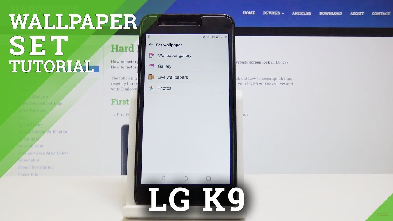 How to Change Wallpaper in LG K9