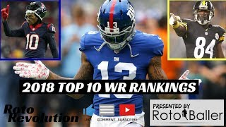 2018 Fantasy Football Rankings - Top 10 WR's