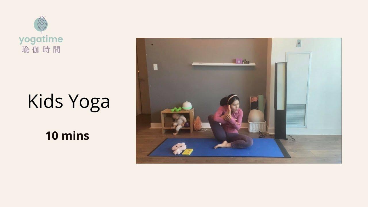 10 mins Kids Yoga For young yogis | Yogatime