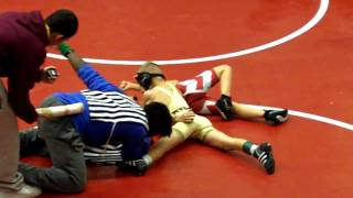 Riley Wrestling Worthington Minnesota Team Duals 50lbs Jan. 2011