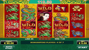 Free Spin Bonus On Dragons Pearl Slot Machine - Max Bet Game