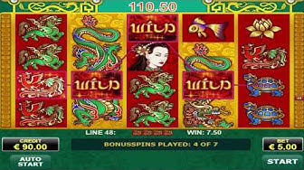 Free Spin Bonus On Dragons Pearl Slot Machine - Max Bet Game