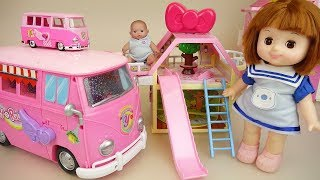 Baby doll camping car and house toys baby Doli play thumbnail