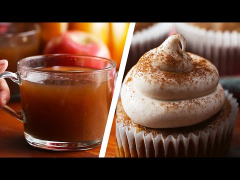 Homemade Apple Cider And Apple Cider Cupcakes