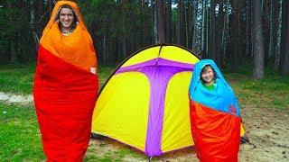 Челлендж 24 ЧАСА в Палатке возле Дремучего ЛЕСА! Что-то пошло НЕ ТАК! 24 hour Challenge for kids