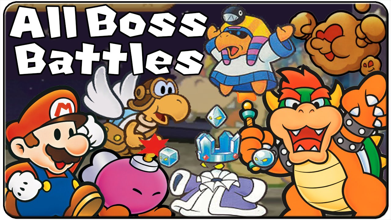Paper Mario All Bosses Youtube
