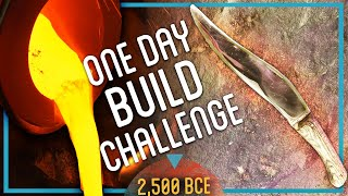 How to Make the SHARPEST Bronze Knife (ONE DAY CHALLENGE)