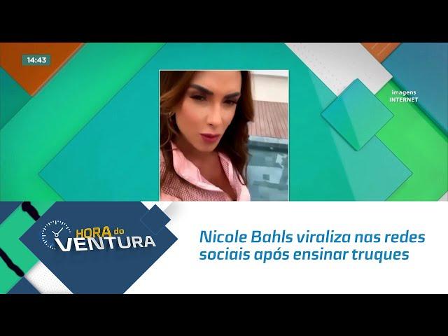 Nicole Bahls viraliza nas redes sociais após ensinar truques de paquera na balada