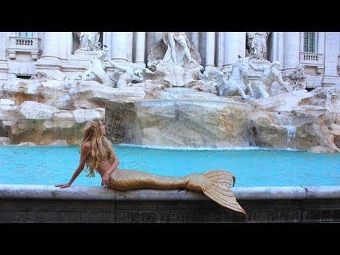 The Mermaid of the Trevi Fountain in Roma