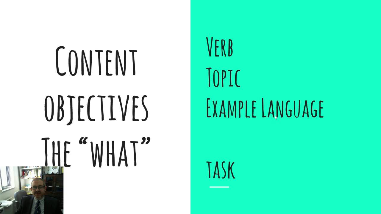 Content objectives versus language objectives - YouTube