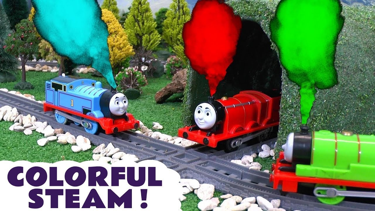 Thomas and Friends Toy Trains Colorful Steam with the funny Funlings ...