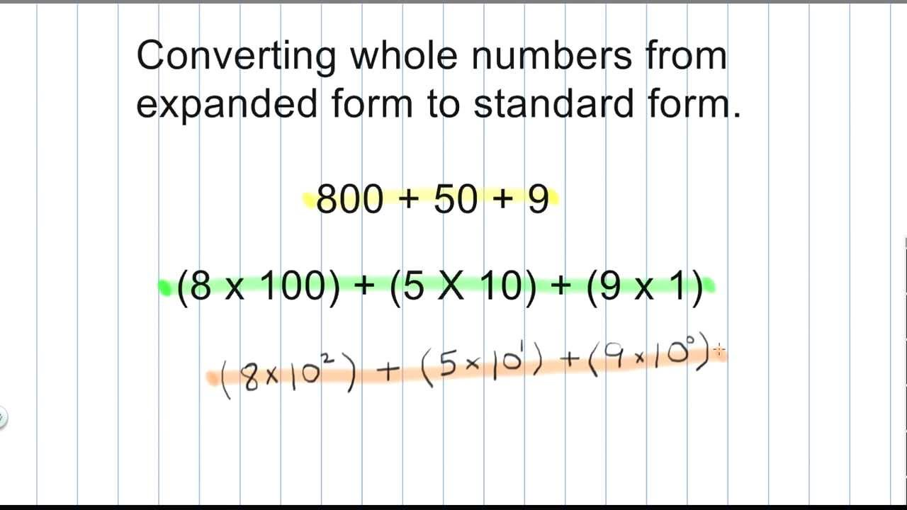 Math numeration how to convert a whole number from expanded form math numeration how to convert a whole number from expanded form to standard form part 1 falaconquin