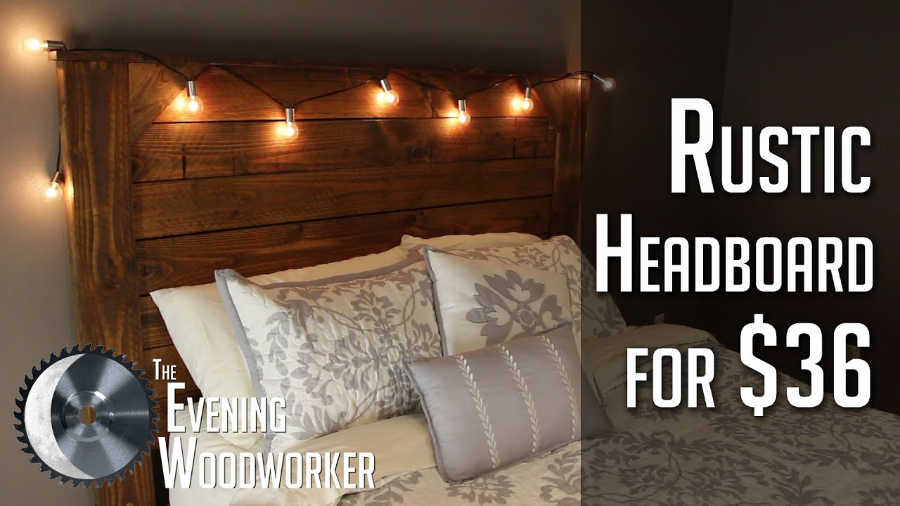 Rustic Headboards rustic headboard for $36 - youtube