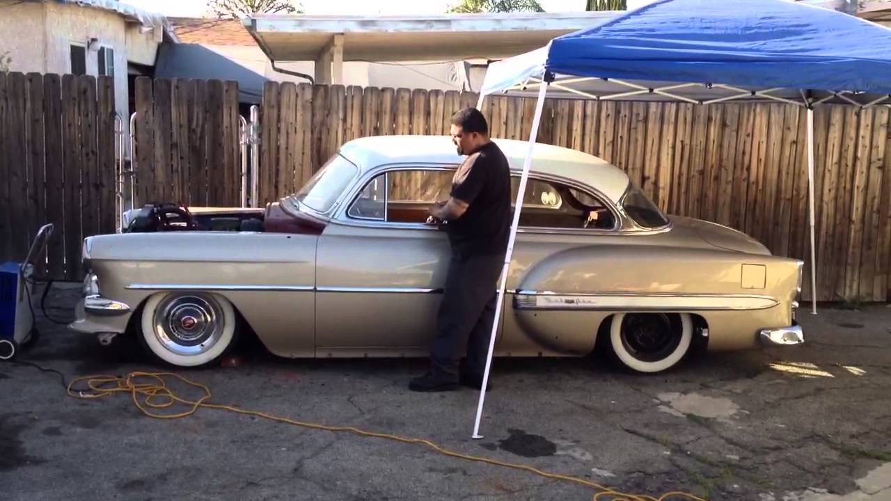 All Chevy 1954 chevy : 1954 chevy belair airbagged - YouTube