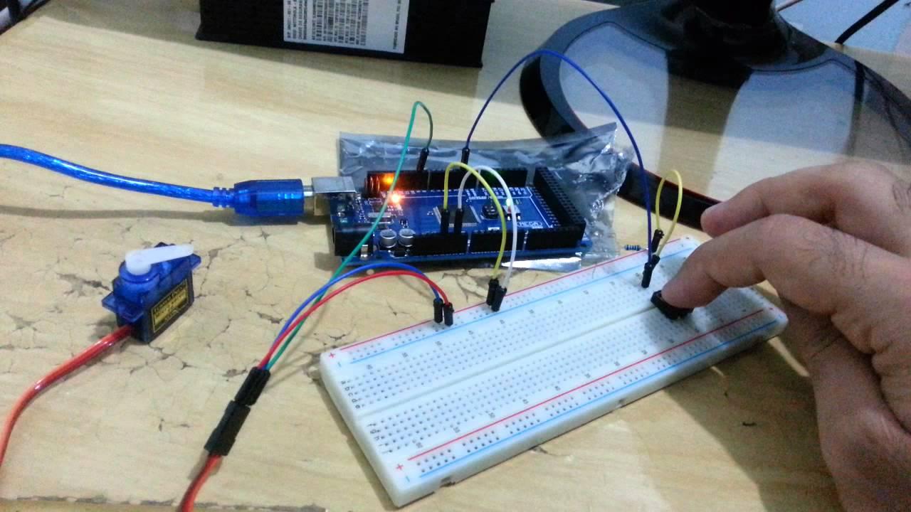 Arduino servo com push button youtube