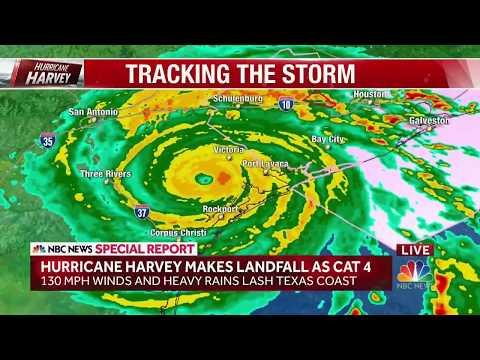 NBC's Sanders and Gutierrez on Scene as Hurricane Harvey Wallops Texas l NBC News