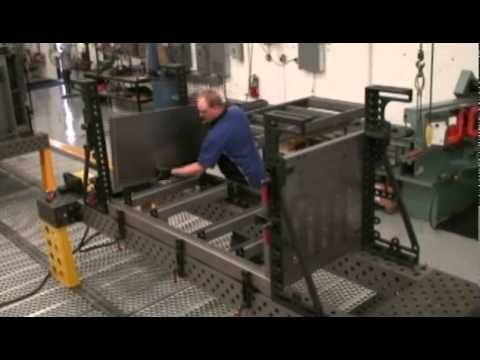 Loading Parts In A Bluco Modular Welding Jig Youtube