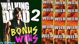 The WALKING DEAD 2 slot machine LIVE PLAY and BONUS WINS (5 videos)